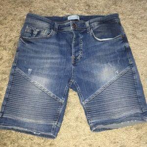 Zara men's denim shorts size 32